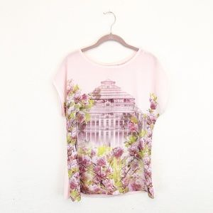 Ted Baker | Pink Graphic Front Blouse